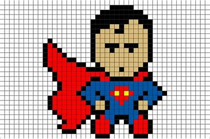 Pixel Superman Superhero Dc Character Comics Template