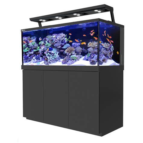 aquarium eau de mer sea max s 650 meuble noir animal co