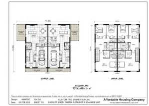 Stunning Images Two Story Duplex Plans by Design Lines Inc Plan Duplex Duplex Floor Plans In