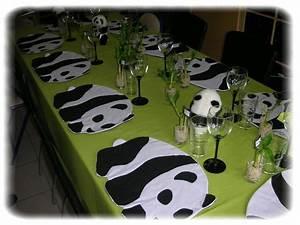 Set De Table En Bambou : monsieur panda alexoriane ~ Premium-room.com Idées de Décoration
