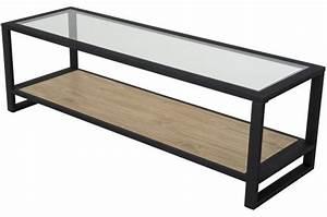Meuble En Fer : meuble tv en fer noir laly design sur sofactory ~ Teatrodelosmanantiales.com Idées de Décoration