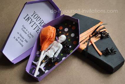 printable halloween invitations unique coffin