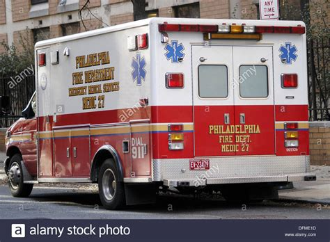 Ambulance. Philadelphia. Usa Stock Photo