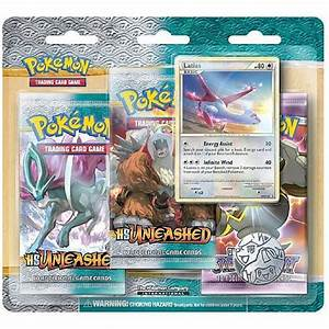 pokemon 2010 hs unleashed 3 pack blister