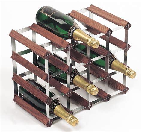 16 Bottle Traditional Wooden Wine Rack 4x3