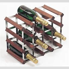 16 Bottle Traditional Wooden Wine Rack 4x3