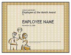 Employee Certificate Templates Free Free Employee Of The Month Template For Employee Recognition In PowerPoint