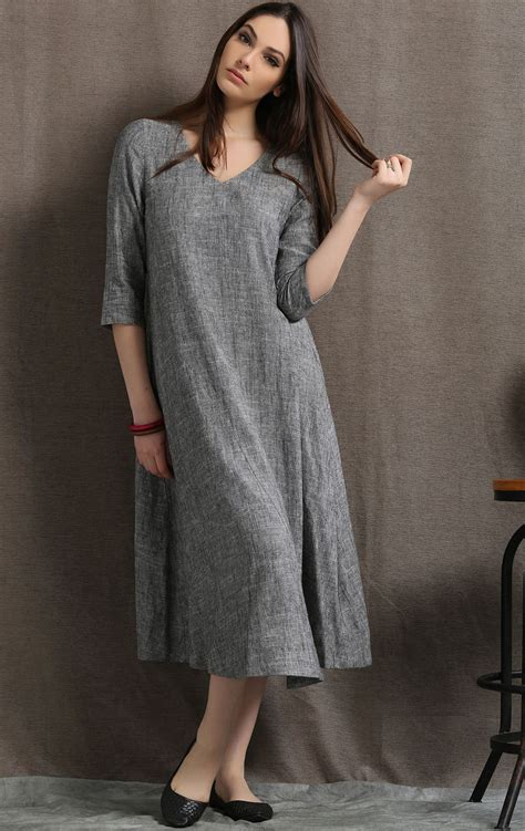 dress linen dress womens dresses midi dress causal dress