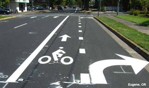 evaluation   combined bicycle laneright turn lane
