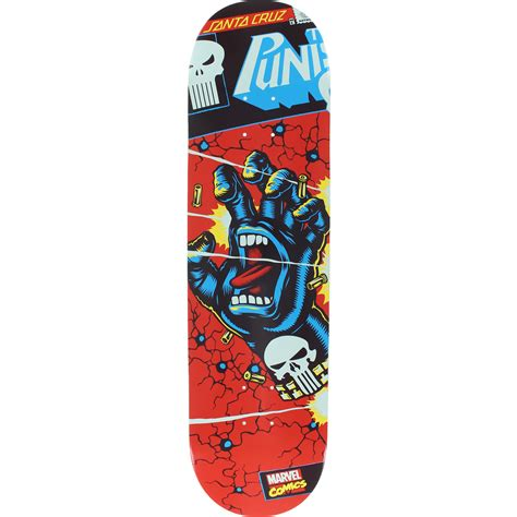 Surfboard Deck Pads by Santa Cruz Skateboards Marvel Punisher Hand Deck