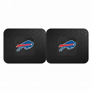 FANMATS NFL Buffalo Bills Black Heavy Duty 2-Piece 14 in