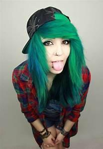 blue green hair on Tumblr