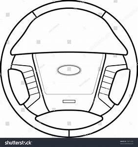 Car Steering Wheel Line Art Stock Vector 73671439