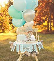 HIGHCHAIR BANNER For 1st Birthday Boy High Chair Banner Elephant Decorations
