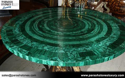 luxury slab furniture  malachite semi precious