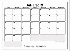 Calendarios julio 2019 LD