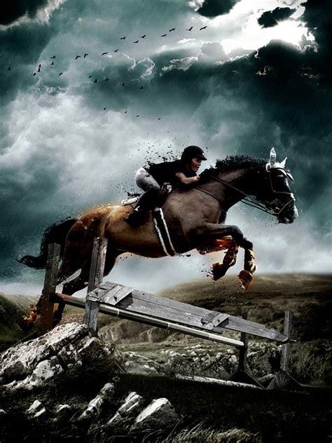 photo horse jump equestrian jumping  image