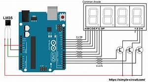 Interfacing Arduino With Lm35 Sensor And 7
