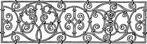 Free Vintage Clip Art – Iron Scrollwork Decorative Image