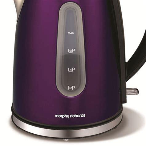morphy richards plum kitchen accessories morphy richards 43907 kettle accents plum purple 9290