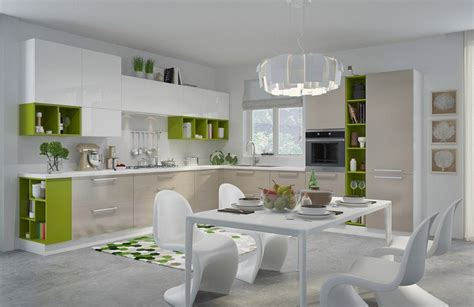 modele cuisine bois moderne modèle de cuisine moderne avec des touches de couleurs