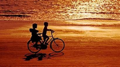 Childhood Happy Childs Sunset Bike Sea