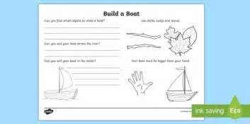 How To Make A Boat Ks1 by Build A Boat Outdoor Learning Activity Sheet Cfe Outdoor