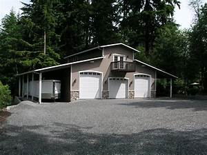 3 car shop plans for rv bay garage with double sided With 3 bay pole barn