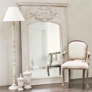 Miroir Trumeau En Bois Gris H 180 Cm GARANCE Maisons Du