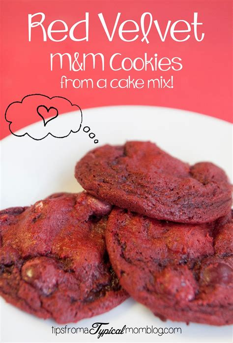 red velvet cake mix mm cookies tips   typical mom