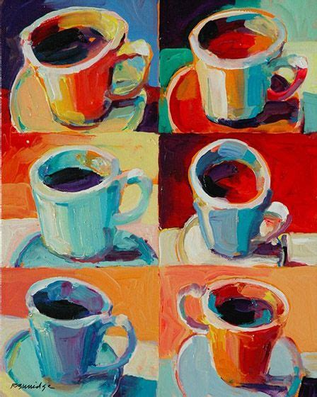 Apr 22 2018 beginners can learn how to paint a coffee cup with acrylics on canvas. Robert Burridge painting | Coffee cup art, Cup art, Coffee art