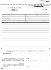 Cover Letter For Construction Bid Proposal Free Print Contractor Proposal Forms The Free Printable