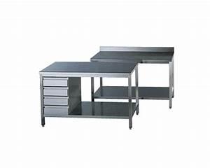 Table De Cuisine Avec Tiroir : plonges et tables inox gamme 600 standard top ~ Teatrodelosmanantiales.com Idées de Décoration