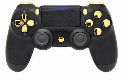 Ps4 Controller Playstation Controllers Side Chrome Goud
