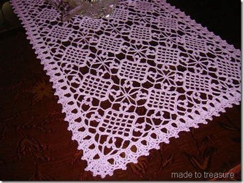 Easy Crochet Table Runner Principlesofafreesociety