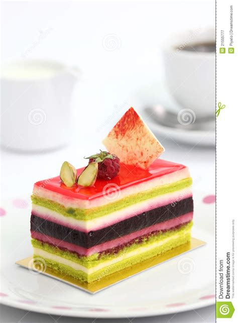 colorful fruit cake royalty  stock photography image