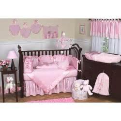 sweet jojo designs chenille pink 9 piece crib bedding set