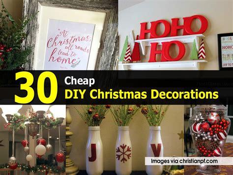 cheap diy christmas decorations