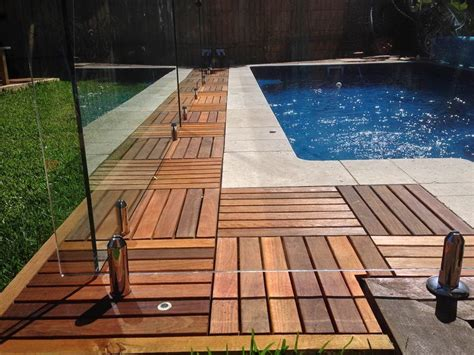 Acacia Deck Tiles by Home24h Co Ltd Flat Outdoor Flooring Acacia Platta