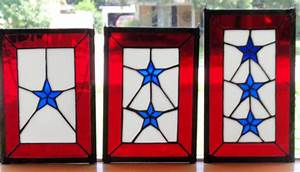 Blue Star Mothers Stained Glass Flags | Jak's Art Glass ...