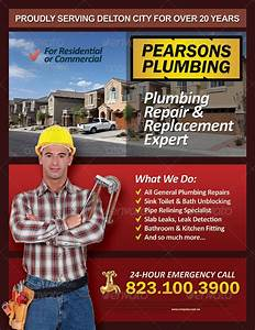 Plumbing Services Flyer Vol 01 by kinzi21 GraphicRiver