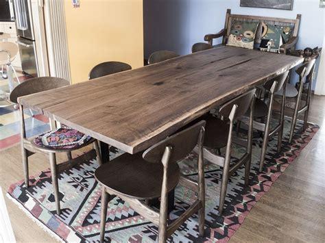 live edge black walnut dining table hand made black walnut bookmatched live edge slab dining