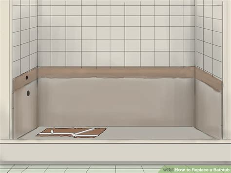 Replace Bathroom Tiles by How To Replace A Bathtub 11 Steps With Pictures Wikihow