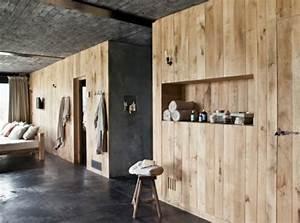 Revetement Mural Salle De Bain : 30 id es pour le rev tement mural bois ~ Edinachiropracticcenter.com Idées de Décoration