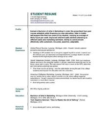 basic resume sles for college students resume template for college students http jobresumesle com 234 resume template for