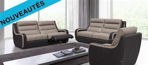 canapé relax cuir but salon moderne cuir
