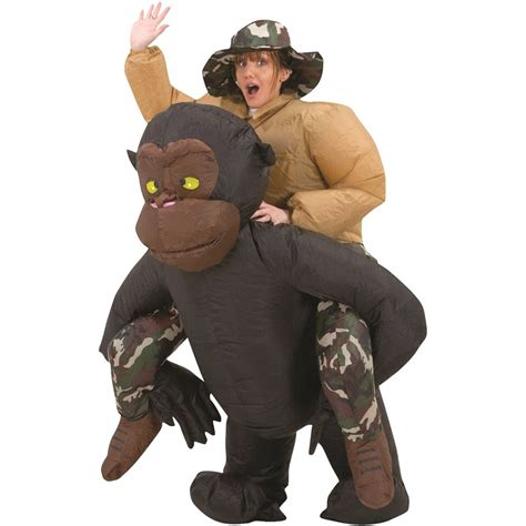 Wwe Bedroom Decor by Inflatable Riding Gorilla Halloween Costume The Green Head
