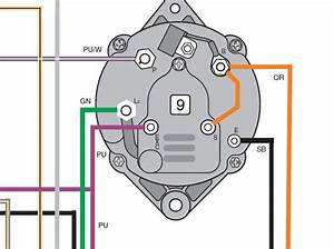 Trying To Find Wiring Diagram For Alternator  Not Sure What Wires Go To What Terminals