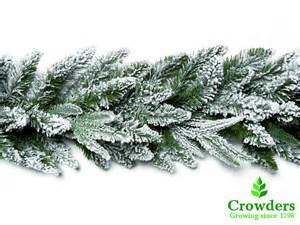 snow covered christmas garland with realistic look feel