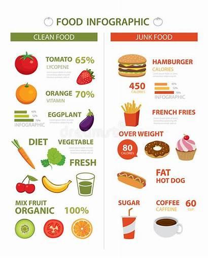 Healthy Diet Junk Vector Infographic Plan Dreamstime